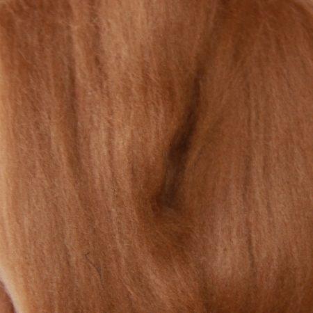 merino wool top single color antique brown