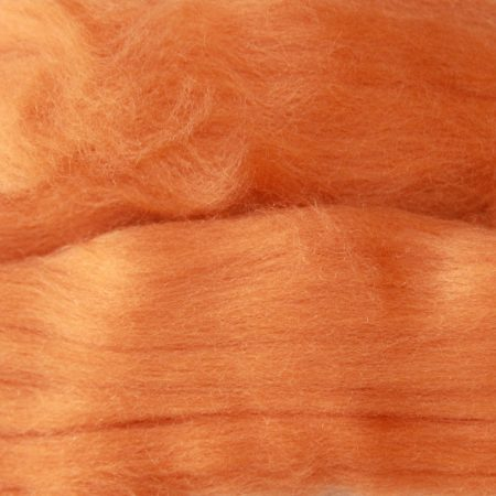 merino wool top single color apricot orange