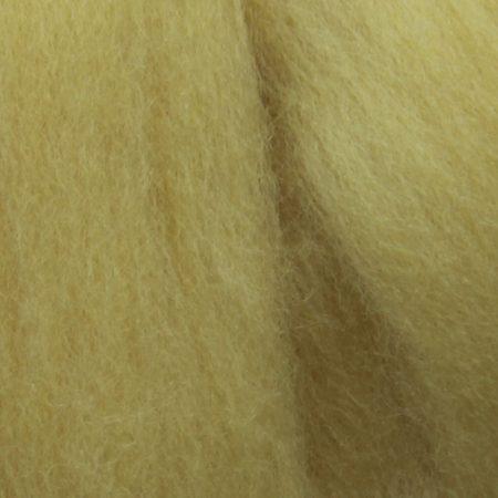 merino wool top single color baby yellow