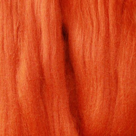 merino wool top single color cinnamon orange
