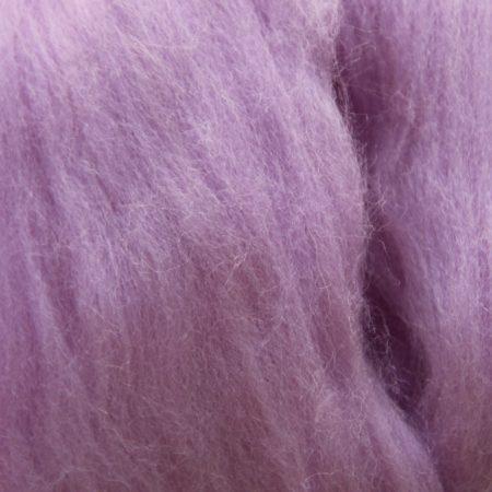 merino wool top single color crocus purple violet