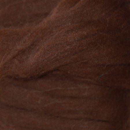 merino wool top single color dark brown
