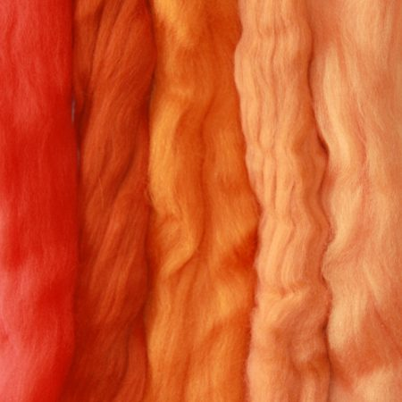 merino wool tops orange medley