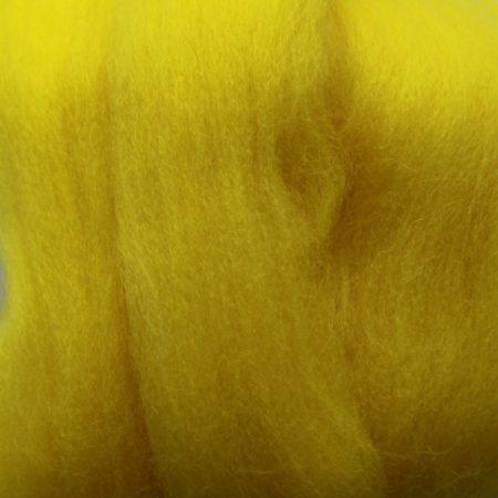 merino wool top single color yellow lemon