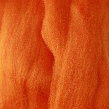 merino wool top single color orange