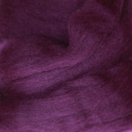 merino wool top single color purple violet