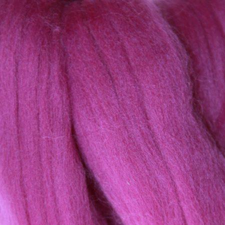 merino wool top single color purple violet