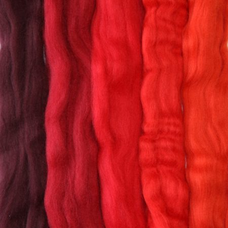 merino wool tops red medley