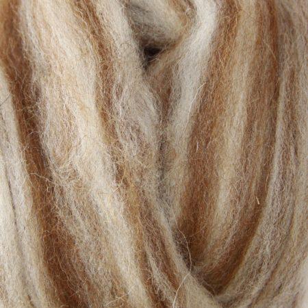 merino wool top single color Shetland humbug brown