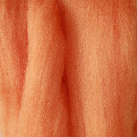 merino wool top single color terracotta orange