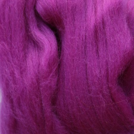merino wool top single color violet purple