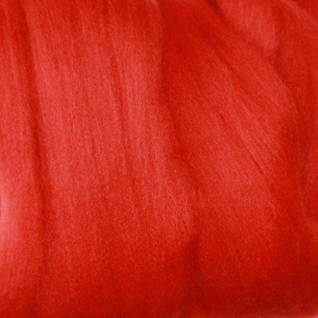 merino wool top single color red brick