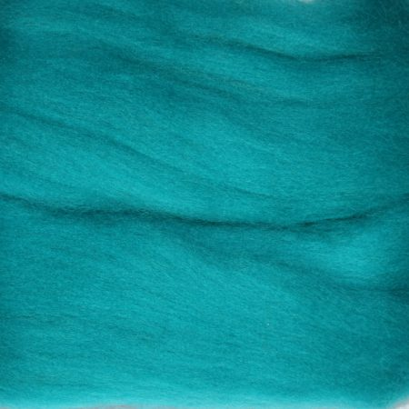 merino wool top single color bright blue turquoise teal