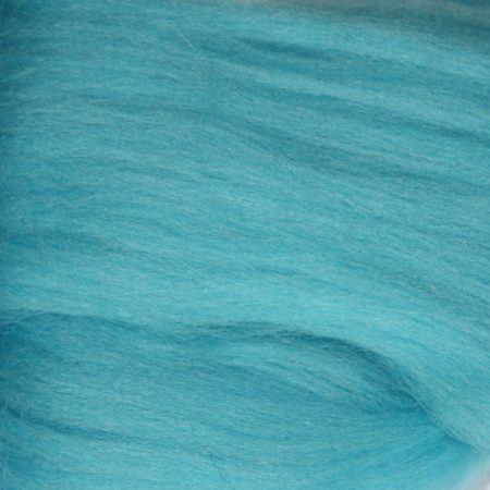 merino wool top single color turquoise blue jade