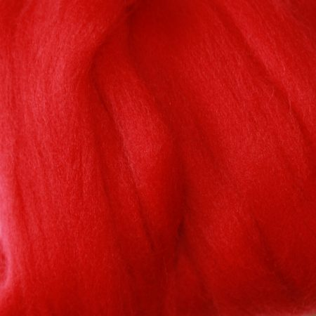 merino wool top single color scarlet red