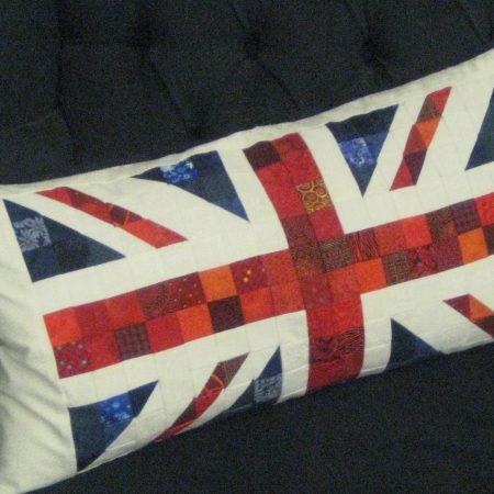 union jack flag cushion pattern