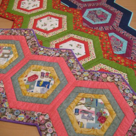Hexagonal table runner pattern