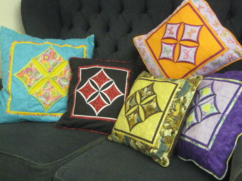 Cathedral window cushion pattern