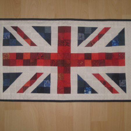union jack flag cushion pattern