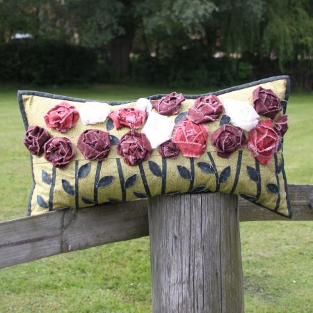 3D Roses cushion pattern pdf