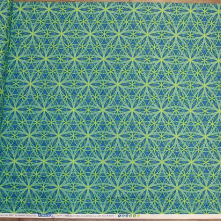 Enjoy the Ride - flower of life pattern green blue