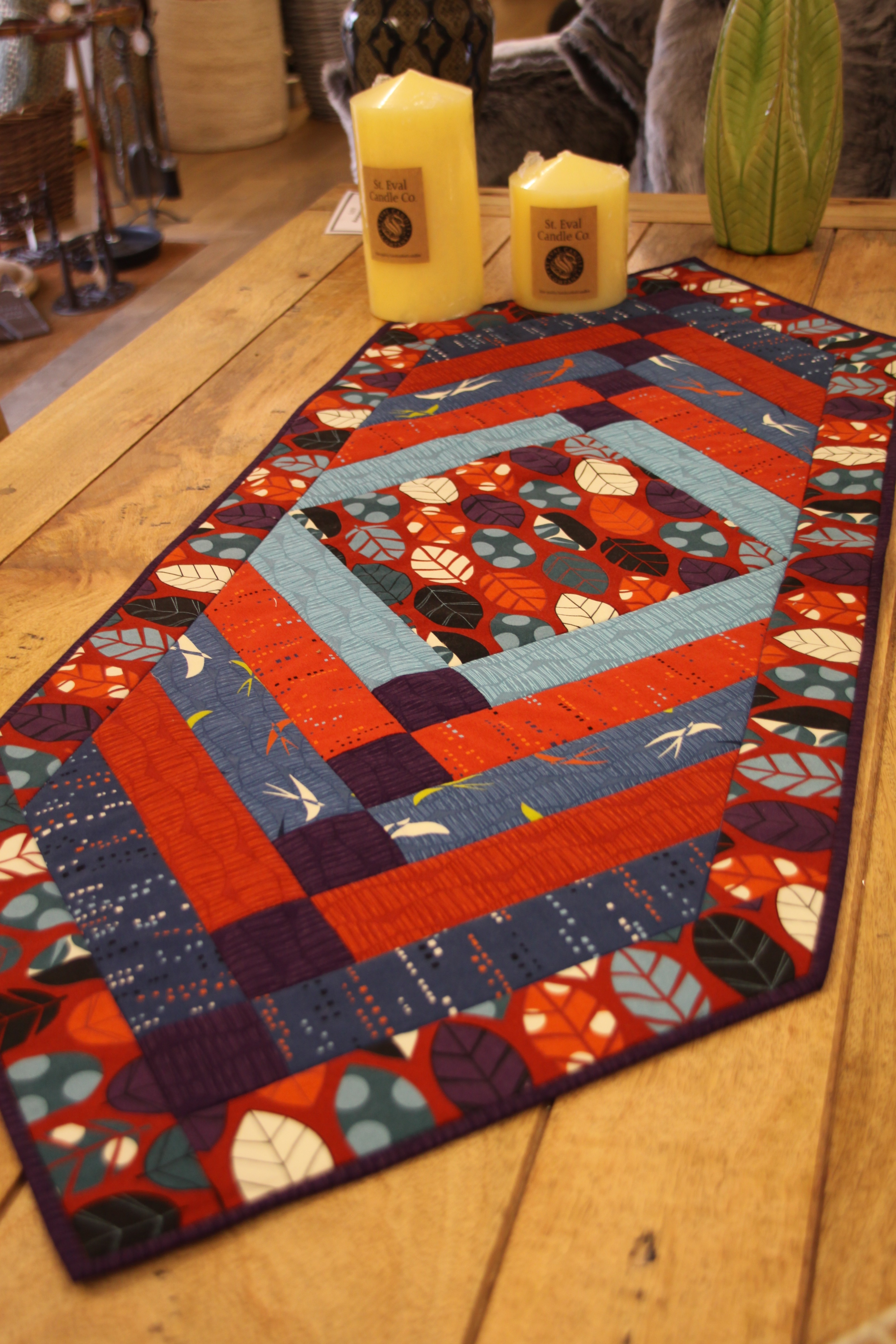 Chevron Table Runner Pdf Pattern Oliven Patchwork Quilting And Felting